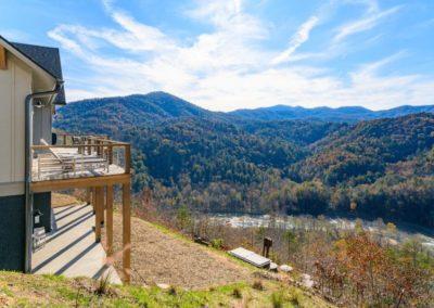 Miller Residence exterior mountain view