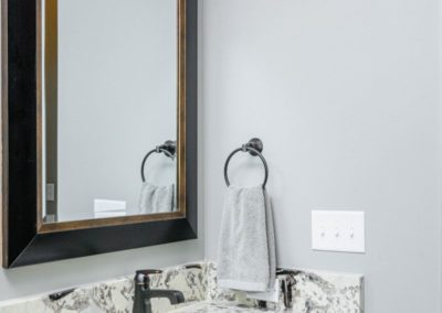 Miller Residence interior bathroom vanity mirror
