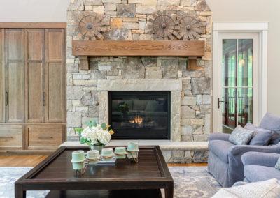 Bailey Living Room Fireplace