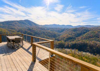 Miller Residence exterior porch mountain view