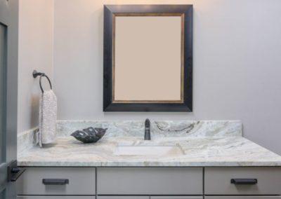 Miller Residence interior bathroom vanity and mirror
