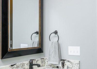 Miller Residence interior bathroom vanity mirror