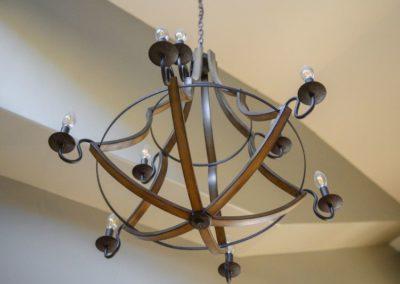 Miller Residence interior chandelier