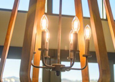 Miller Residence interior dining room chandelier