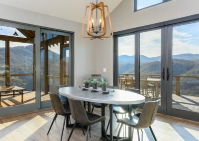 Miller Residence interior dining room with view