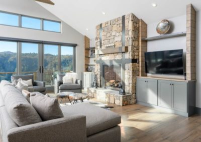Miller Residence interior fireplace