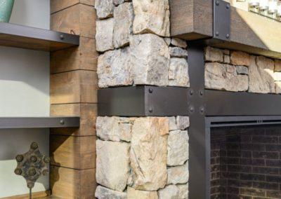 Miller Residence interior fireplace detail