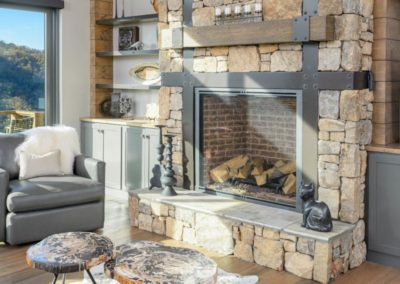Miller Residence interior fireplace seating