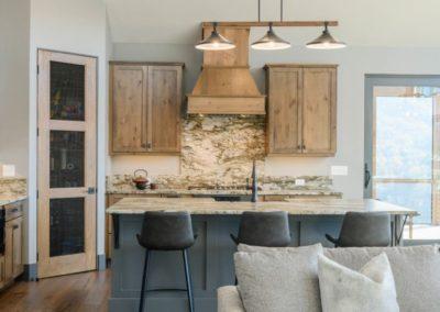 Miller Residence interior kitchen from living room