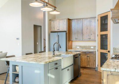 Miller Residence interior kitchen island