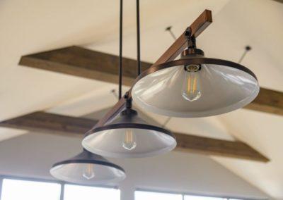 Miller Residence interior kitchen island lighting