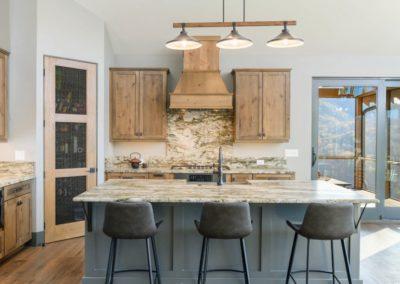 Miller Residence interior kitchen island seating