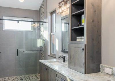 Miller Residence interior master bathroom vanity