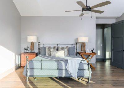 Miller Residence interior master bedroom bed