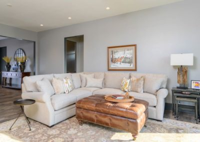 Miller Residence interior seating area