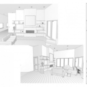 Contemporary Fireplace Elevation